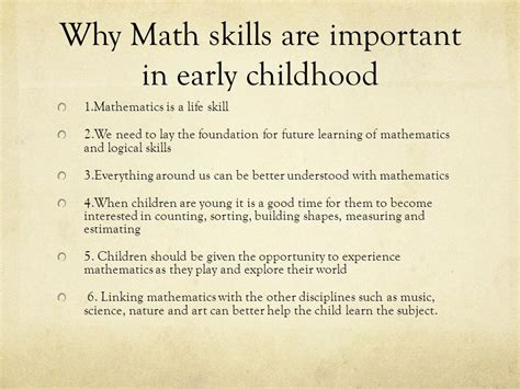 Why Mat Is Necessary by Early Childhood Education Ppt