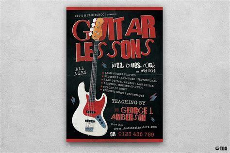 Guitar Lessons Flyer Template V2 Flyer Template Doc 2