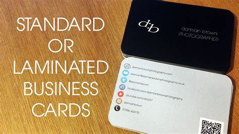 how to make laminated cards standard vs laminated business cards