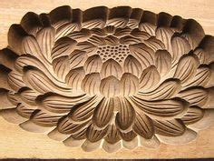 chrysanthemum rubber st antique japanese kashigata cake mold lotus flower wood