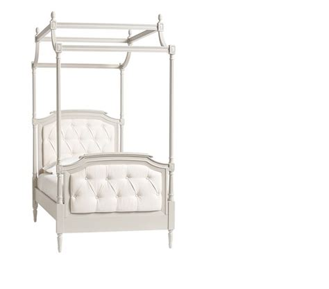 tufted canopy bed blythe tufted canopy bed pottery barn kids