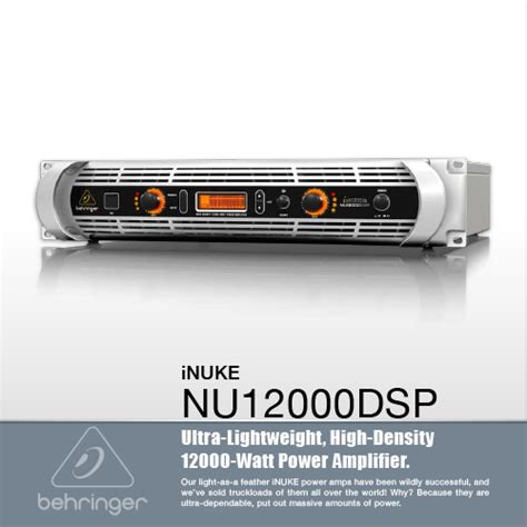 Behringer Nu12000dsp Power Lifier 12000 Watt With Dsp And Usb เพาเวอร แอมป เพาเวอร แอมป behringer inuke nu12000dsp