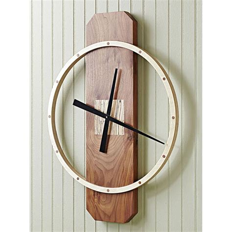 wall clock plans woodworking big time wall clock woodworking plan from wood magazine