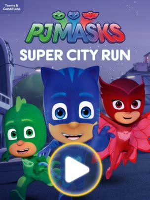 new disney mobile game: pj masks super city run