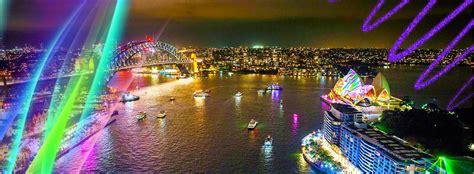christmas vivid sydney festival cruises captain cook cruises