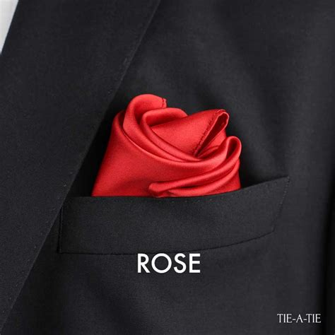 rose pocket square fold tie a tie net