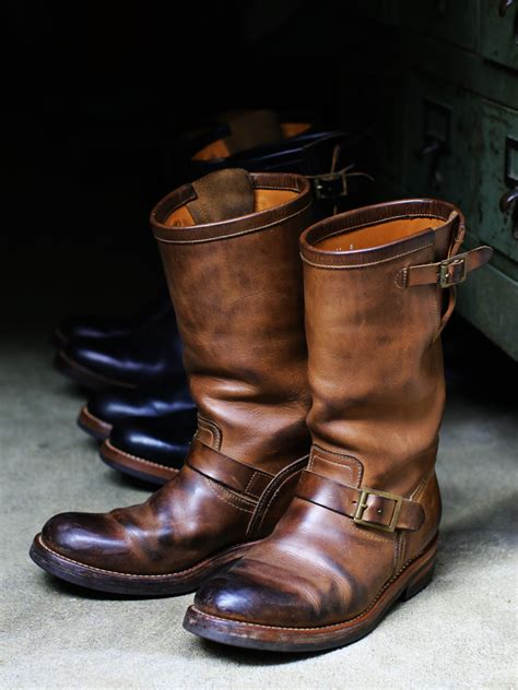 chromexcel leather engineer boots st model leather arts