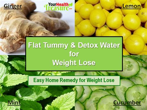 Detox To Lose Belly by Flat Tummy Water Recipe Detox Water For Weight Loss