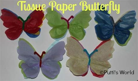 How To Make A Butterfly Out Of Tissue Paper - 1000 images about easter butterfly decor on