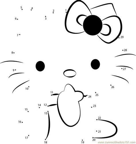 hello kitty printable activity sheets connect the dots worksheets printable hello kitty 1 dot