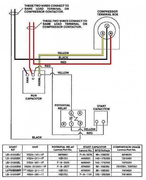 wiring diagram for ac unit goodman condenser