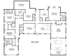 Single Level Ranch House Plans Small U Shaped House Plans U Shaped House Plans Single