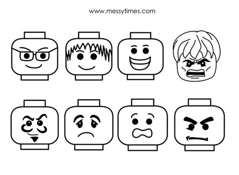 lego face templates birthday party ideas pinterest