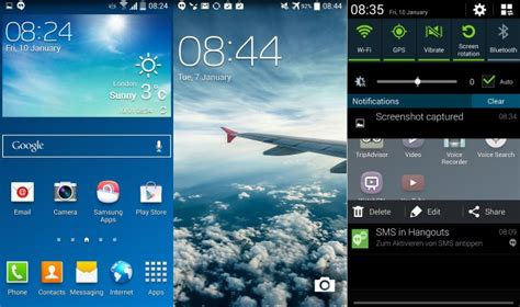 themes for android kitkat 4 4 4 galaxy s4 kitkat firmware leaks with white status icons