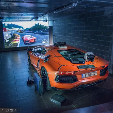 Lamborghini Aventador Simulator by Lamborghini Aventador Turned Into Driving Simulator
