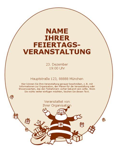 Word Vorlage Handzettel Vorlage Weihnachtsfeier Einladung Brillebrille Info