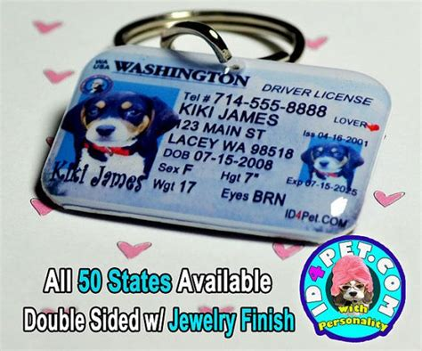 drivers license tag driver license id tag doggie couture accessories