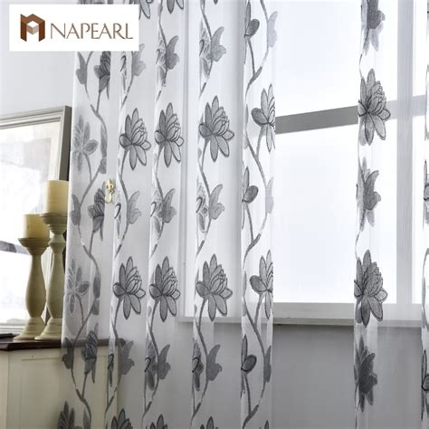 fashion curtains flower tulle curtains fashion window treatments white