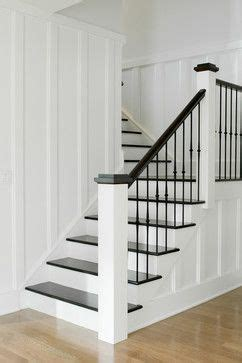 White L Posts by Treppen Landhaus And Treppe On