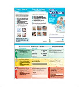 asthma brochure template asthma plan template 13 free sle exle