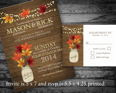 Unique Fall Wedding Invitations by Dreaded Rustic Fall Wedding Invitations Theruntime