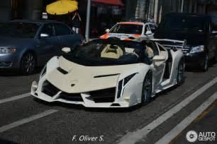 Lamborghini Veneno White White Lamborghini Veneno Roadster Spotted In Geneva 10