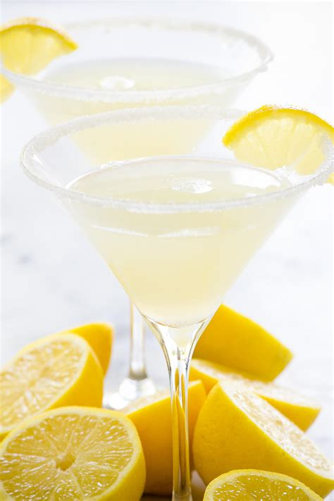 lemon drop martinis sparkling lemon drop martini
