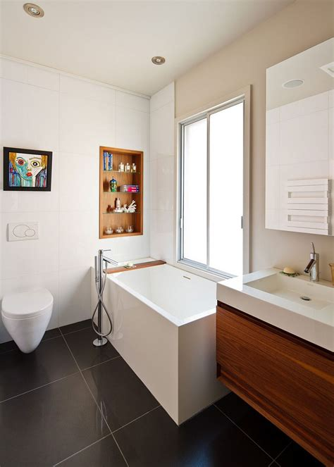 Next Bathrooms Accessories Tiny Bathtub With A Built In Wooden Shelf Next To It For Bathroom Accessories Decoist