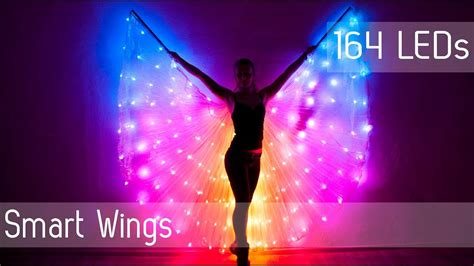 light up wings smart led light up rainbow bellydance wings 164 leds