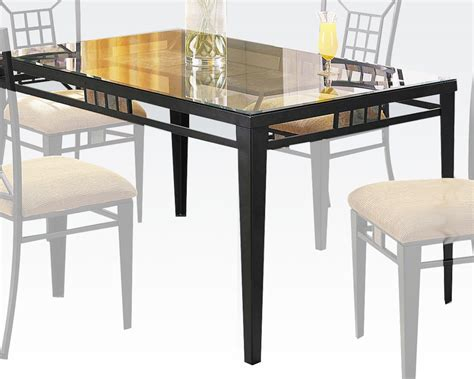 acme dining table black dining table douglas by acme furniture ac08285