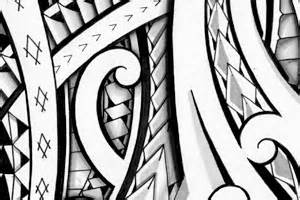 polynesian halfsleeve tribal tattoo design