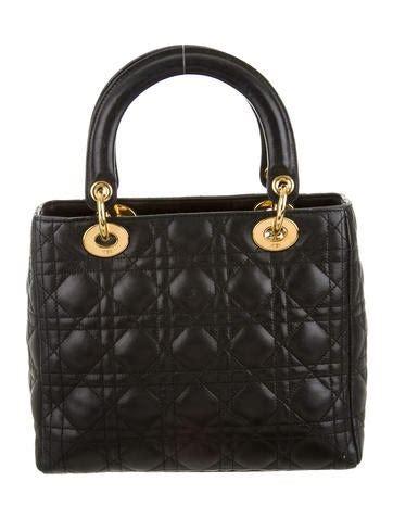 christian dior vintage medium lady dior bag handbags