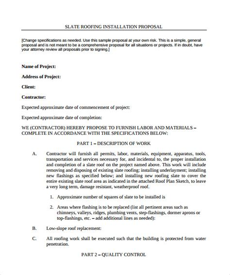 roofing contract template roofing contract template 9 documents in pdf