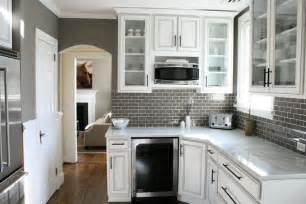Gray Backsplash Kitchen Gray Subway Tile Backsplash Contemporary Kitchen