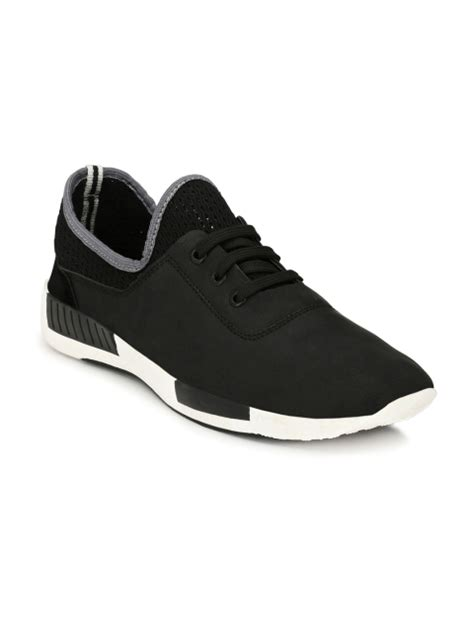 black and white sneakers mens mactree black casual shoes for 60 deals2buy