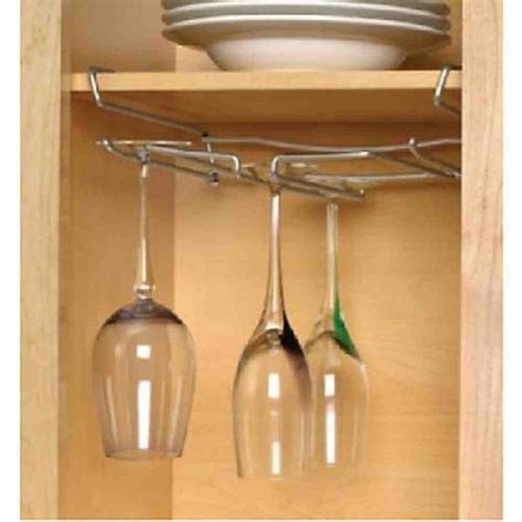under cabinet wine glass rack diy wood stemware holder do it your self