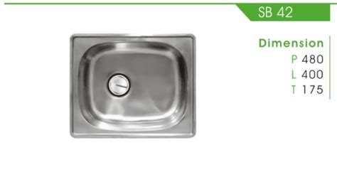 Kitchen Sink Royal Sb 1pk kitchen set royal detil produk sb 42 royal sink fortuna alumunium tirta stainless steel