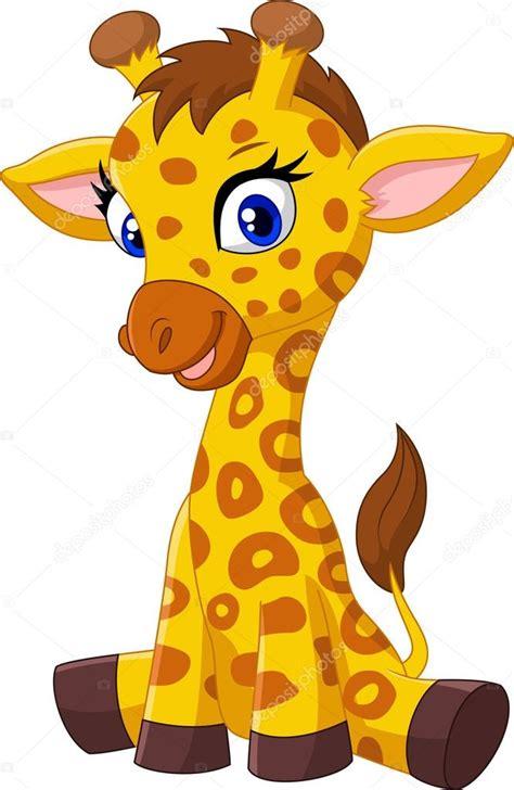 imagenes de jirafas bebes en caricatura dessin anim 233 b 233 b 233 girafe assis image vectorielle