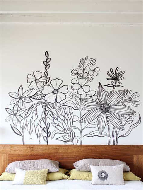 painted wall mural geninne s flower mural