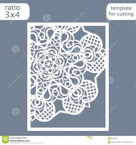 lace templates card laser cut wedding invitation card template cut out the