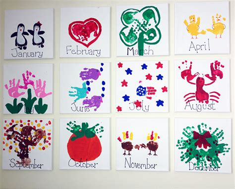 childrens craft ideas handprint calendar craft idea crafty morning