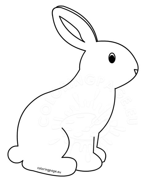 blank bunny coloring page bunny coloring pages archives rabbit coloring pages
