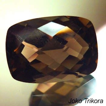 Cincin Batu Kecubung Smoky 01 batu smoky quartz jk230 joko permata batu