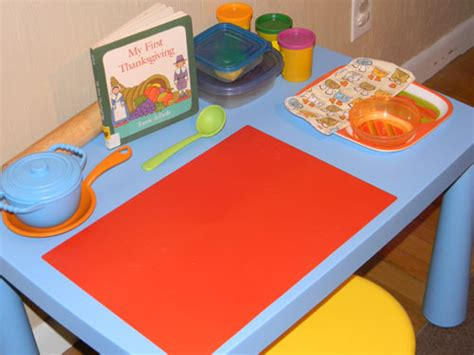 Playdough Table by Thanksgiving Play Dough Feast