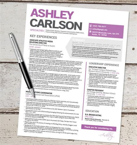 Sle Of Creative Resume The Resume Template Design Graphic Design Marketing Sales Customer Service