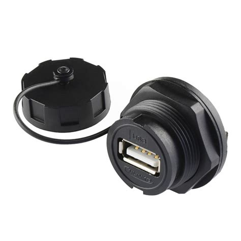 usb waterproof connector panel mount usb