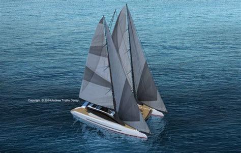 catamaran mast design andrew trujillo s twin mast cruising catamaran concept