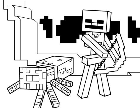 minecraft coloring pages wither skeleton minecraft wither skeleton coloring pages