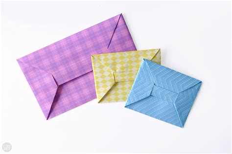 Paper Origami Envelope - origami money envelope i try diy
