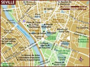 Seville Spain Map by Map Of Seville